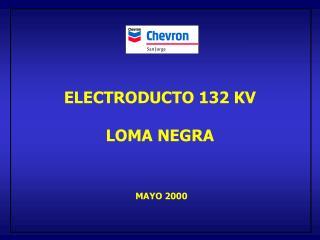 ELECTRODUCTO 132 KV LOMA NEGRA