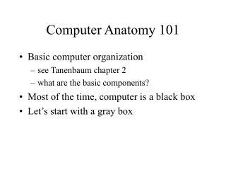 Computer Anatomy 101