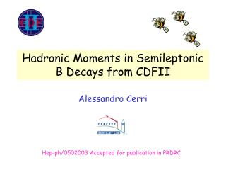 Hadronic Moments in Semileptonic B Decays from CDFII