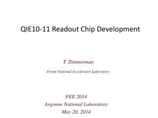 QIE10-11 Readout Chip Development