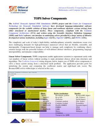 TOPS Solver Components