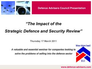 Defence Advisers Council Presentation
