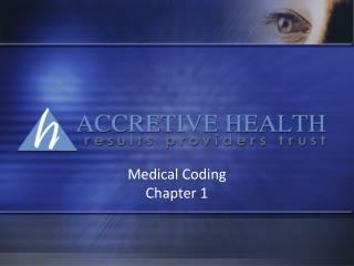 Medical Coding  Chapter 1