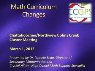 Math Curriculum Changes