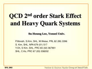 QCD 2 nd  order Stark Effect and Heavy Quark Systems