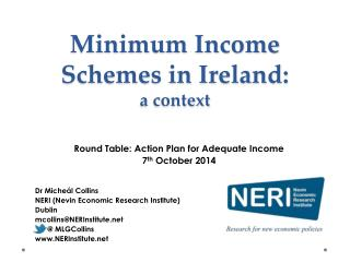 Minimum Income Schemes in Ireland: a context