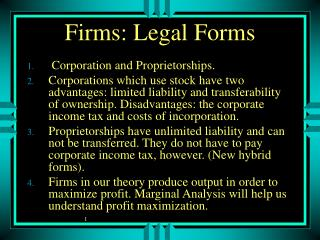 Firms: Legal Forms
