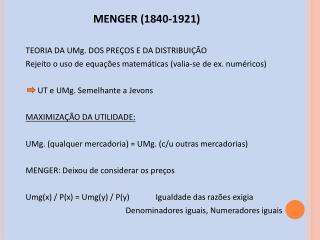 MENGER (1840-1921)