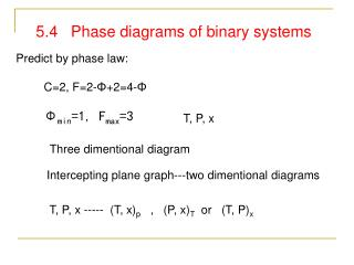 5.4   Phase diagrams of binary systems