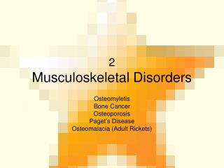 2 Musculoskeletal Disorders
