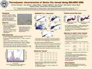 Thermodynamic characterization of Mexico City Aerosol during MILAGRO 2006