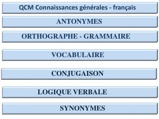 ORTHOGRAPHE - GRAMMAIRE