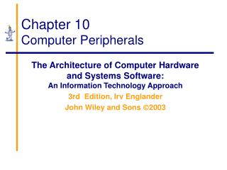 Chapter 10 Computer Peripherals