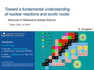 Toward a fundamental understanding  of nuclear reactions and exotic nuclei