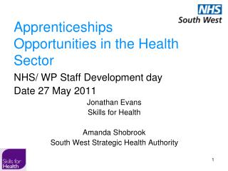 Apprenticeships  Opportunities in the Health Sector