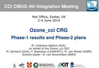 CCI CMUG  4th  Integration Meeting