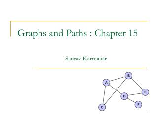 Graphs and Paths : Chapter 15                     Saurav Karmakar