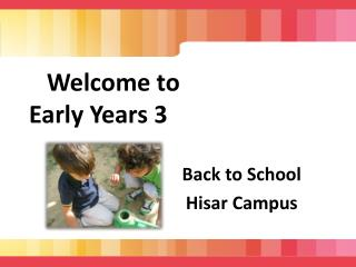 Welcome to Early Years 3