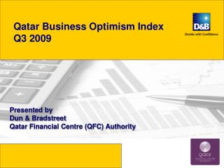 Qatar Business Optimism Index  Q3  2009