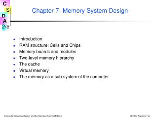 Chapter 7- Memory System Design