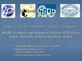 1) Lobachevsky State University of Nizhny Novgorod 2) Radiophysical Research Institute