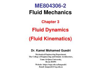 ME804306-2 Fluid Mechanics