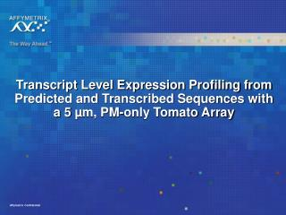 Expression array design concepts