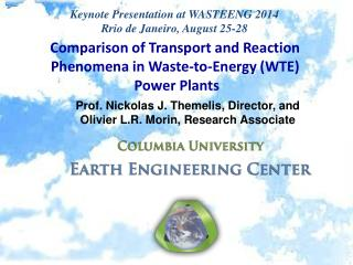 Comparison of Transport and Reaction Phenomena in Waste-to-Energy (WTE)  Power Plants