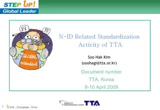 N-ID Related Standardization  Activity of TTA