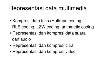 Representasi data multimedia