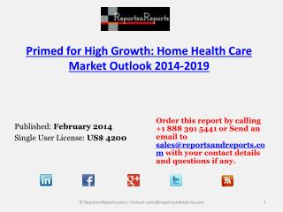 Home Health Care Industry Analysis and Forecasts to 2019