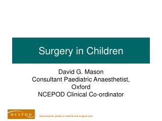 Surgery in Children