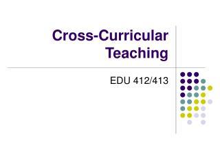 Cross-Curricular Teaching