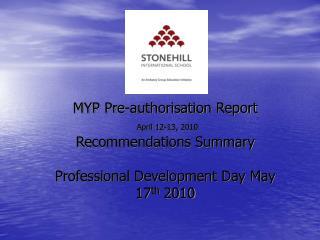MYP Pre-auth Report