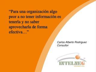 Carlos Alberto  Rodriguez Consultor