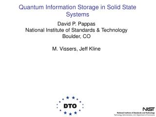 Quantum Information Storage in Solid State Systems