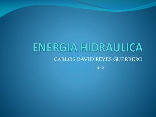 ENERGIA HIDRAULICA