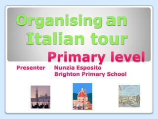 Organising an Italian tour