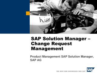 SAP Solution Manager –  Change Request Management