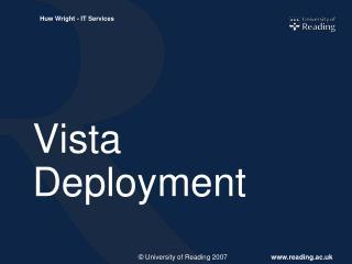 Vista Deployment