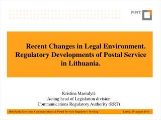 Postal market supervision