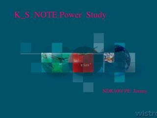 K_S  NOTE Power  Study