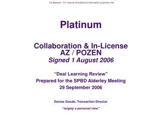 PLATINUM – LEARNING REVIEW