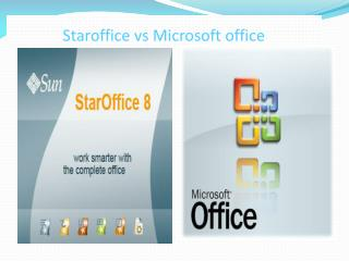 Staroffice vs Microsoft office