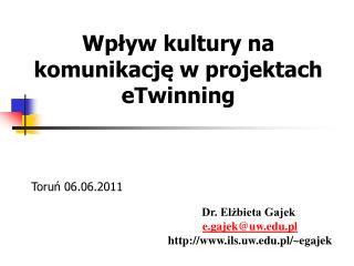 Wpływ kultury na komunikację w projektach eTwinning
