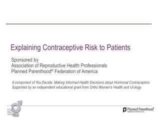 Explaining Contraceptive Risk to Patients
