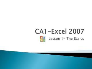 CA1-Excel 2007