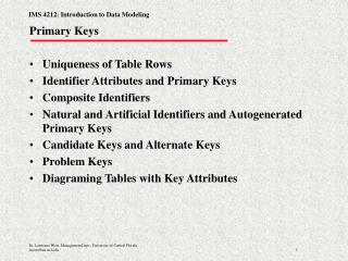 Primary Keys