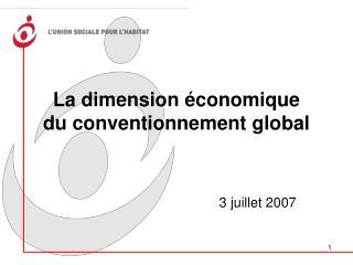 La dimension économique  du conventionnement global