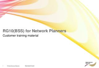 RG10(BSS) for Network Planners